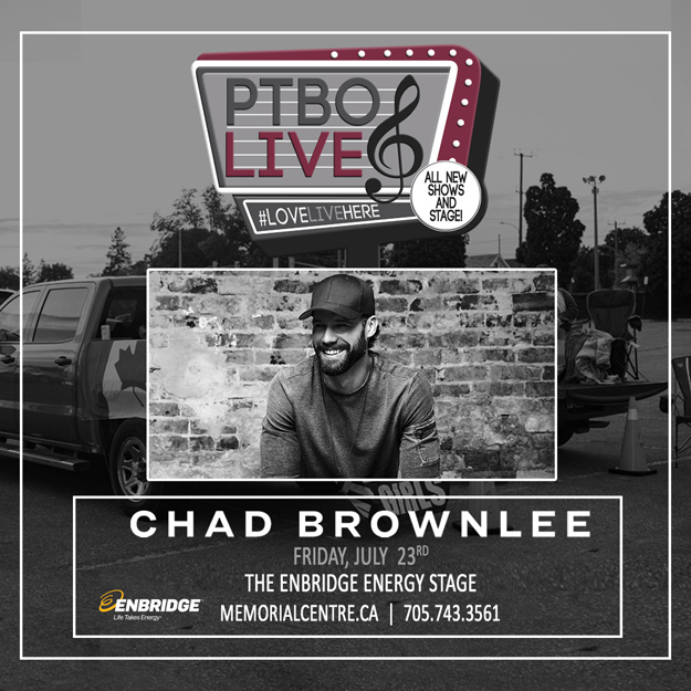 Chad Brownlee with special guest SJ Riley - Friday July 23, 2021 at 7PM